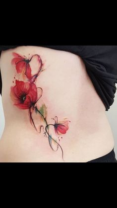 80 Gorgeous Watercolor Floral Tattoo Designs For Women – Page 25 of 80 - Best Tattoos Daffodil Tattoo, Poppies Tattoo, Flower Tattoos, Badass Sleeve Tattoos, Sleeve Tattoos For Women, Diy Tattoo, Tattoo Arm, Tattoo Feather, Tattoo Ideas