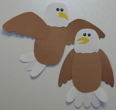 Cute eagle glyph to go along with American Symbols thematic unit :)