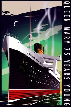 Queen Mary 75th Anniv Poster