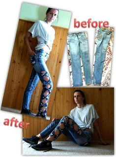 jeans with bows
