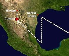 The Coyame UFO incident was a reported mid-air collision between a UFO and a small airplane said to have taken place on August 25, 1974 near the town of Coyame, Chihuahua, close to the U.S.-Mexico border. Some conspiracy theorists believe the UFO was retrieved by a United States government rapid response team assembled by military and intelligence agencies