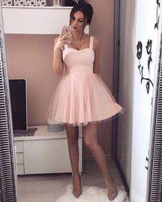 Vestido rosa blush saia tule
