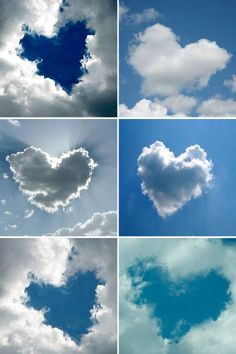 hearts  clouds