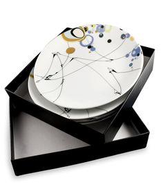 Kite Strings Side Plates set of Four #geometric #dinner