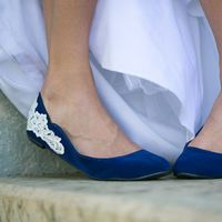 Ballet Flat with Ivory Lace Applique