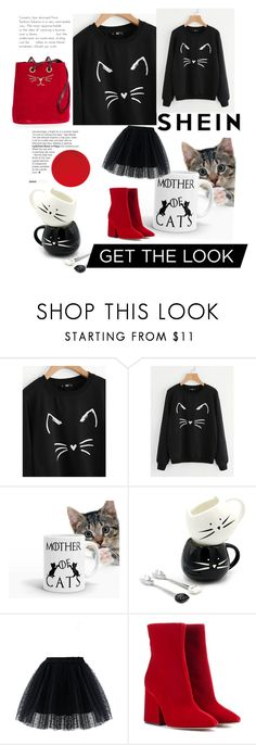 """""""shein"""" by bellamonica ❤ liked on Polyvore featuring Chicwish, Maison Margiela and Charlotte Olympia"""
