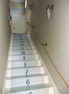 Numbering the steps would be perfect for me since I always count each time I go up and each time I go down.......just to make sure they are all still there! Why do I do that??? lol