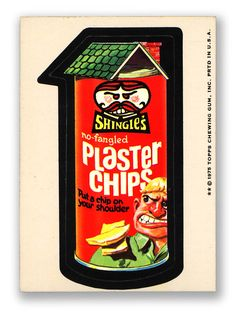 Topps Wacky Packages  15th Series 1975 SHINGLES