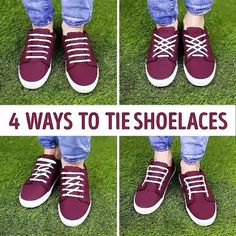 5ee2be366337ac 4 ways to tie your shoes!  lifehack  hacks  diyshoes  laces  shoelaces   shoelace Credits  5.min.crafts
