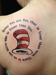 My new Dr. Seuss tattoo! Really love this!!!