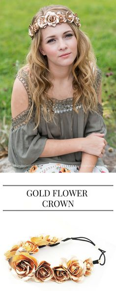 Our Gold Flower Crown is back in stock! For every headband sold, one is given to a child with cancer!