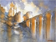 Beautiful Watercolor Paintings of Architecture by Thomas W. Schaller - My Modern Met