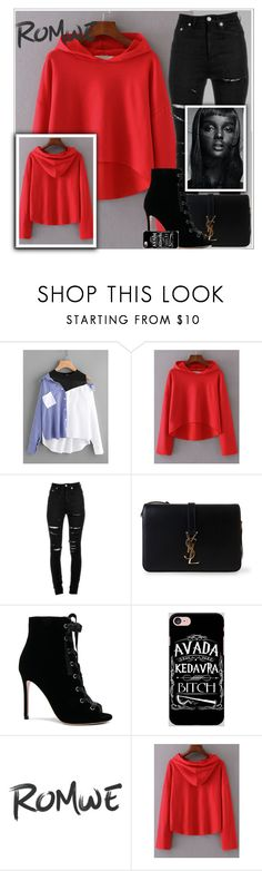 """Romwe contest"" by enaa-288 ❤ liked on Polyvore featuring Yves Saint Laurent, Gianvito Rossi, Samsung and Thot"