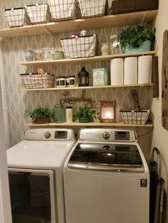 """Awesome """"laundry room storage diy shelves"""" info is offered on our website. Check it out and you will not be sorry you did. Laundry Room Remodel, Basement Laundry, Farmhouse Laundry Room, Small Laundry Rooms, Laundry Room Organization, Laundry Room Design, Laundry In Bathroom, Laundry Tips, Laundry Room Shelving"""