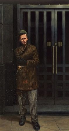 Mark Wallinger Capital 1990 Oil on canvas,  266.5 x 145 cm