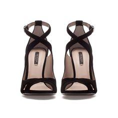 """ZARA  CROSS STRAP SANDAL  Ref. 1486/201    Height of heel: 12 cm./ 4,7""""  17,995.00 HUF"""