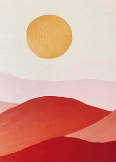 Sunset 1 Art Print by Simple Canvas Paintings, Diy Canvas Art, Mirror Painting, Painting & Drawing, Simple Art, Minimalist Art, Art Inspo, Modern Art, Art Projects