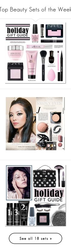 """Top Beauty Sets of the Week"" by polyvore ❤ liked on Polyvore featuring beauty, Deborah Lippmann, Stila, Yves Saint Laurent, NARS Cosmetics, Kate Spade, Lancôme, Sigma, beautyblender and OPI"