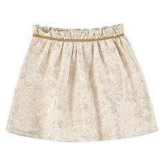 jupe précieuse jacquard et lurex doré doublure en coton taille élastique