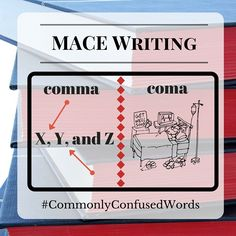 "Difficult word pair: ""comma"" and ""coma."" Mixing these two up can be aaaakward! Need editing help? Check us out: www.macewriting.com/editing."