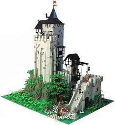 The Classic Castle dot Com Featured MOC Archive Lego Castle, Tower Castle, Lego Memes, Lego Village, Cool Lego, Awesome Lego, Lego Minifigure Display, Lego Indiana Jones, Lego Truck