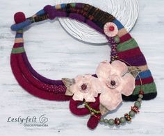 Unique quirky necklace Collar Necklace Rustic by Leslyfelt on Etsy