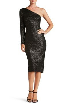 Main Image - Dress the Population Chrissie Sequin One-Shoulder Dress (Nordstrom Exclusive)