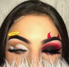 Try the Two-Faced Halloween Look That's Breaking the Internet Loading. Try the Two-Faced Halloween Look That's Breaking the Internet Makeup Eye Looks, Eye Makeup Art, Crazy Makeup, Makeup Eyeshadow, Makeup Brushes, Disney Eye Makeup, Edgy Makeup, Beauty Makeup, Eyeshadows