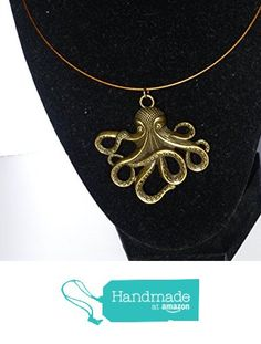 Golden Octopus Wire Choker Necklace from DonkeyandtheUnicorn http://www.amazon.com/dp/B018FD6JFI/ref=hnd_sw_r_pi_awdo_7-kCwb1EXSH4M #handmadeatamazon