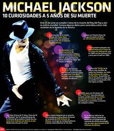 Este 25 de junio se cumplen 5 años de la muerte del Rey del Pop, sin embargo todo lo que gira a su alrededor sigue como noticia mundial. Conoce algunos de los datos poco conocidos y otros más recientes. #Infographic