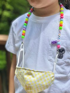 Cute Necklace, Beaded Necklace, Necklace Ideas, Pony Beads, Fashion Face Mask, Diy Face Mask, Face Masks, Mask For Kids, Go Shopping