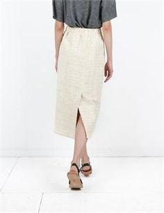 Creatures of Comfort Tamaron Skirt - Painted Stripe Raffia