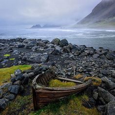 Photo @ladzinski / The remains of an old boat slowly being overtaken by vegetation near #stokksness beach in South East Iceland. With an average of 100 inches of rain annually nature has little problem overtaking anything that resembles a large flower pot. by natgeo