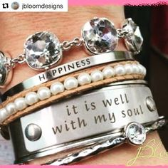 www.myjbloom.com/awidowsworld create custom jewelry that is stunning, quality and unique. #cuffbracelets #bangles #charms #bling #customizedjewelry