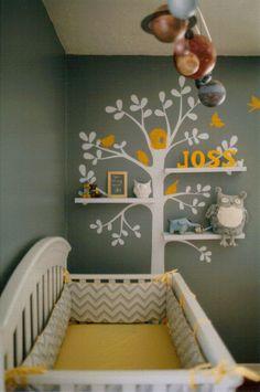 Grey, White and Yellow Nursery.