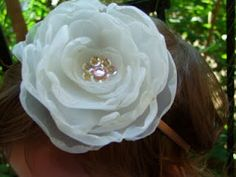 textile flower tutorial: edges melted and lace circles between fabric
