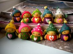 Winter birds out of fimo clay