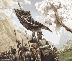 MEC19_2756_Banner of Ecthelion_942_JoãoBosco Tolkien, Hobbit Art, O Hobbit, Fantasy Battle, Medieval Fantasy, Fantasy Artwork, Fantasy Chronicles, Myths & Monsters, Illustration Techniques