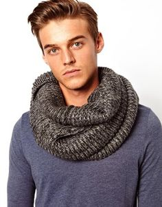 Chunky infinity scarf from ASOS Menswear. Just what I needed for fall AND in my favorite palette.