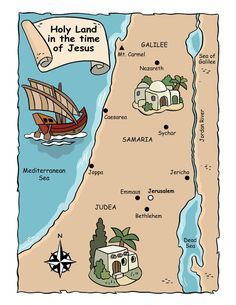 Heiliges Land, Bible Mapping, Maps For Kids, Religion Catolica, Bible Activities, Sunday School Crafts, Bible Crafts, Kids Church, School Lessons