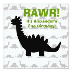 Dinosaur Birthday Invitations Silhouette Dinosaur Dino Birthday Invitation