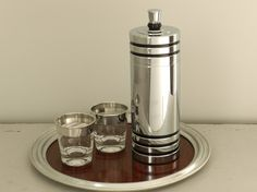 Vintage Chase Cocktail Martini Shaker 1930s Art Deco Decor Howard Reichenbach Gaiety Designed. $128.00, via Etsy.