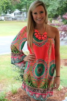 Off the Racks Boutique - The Neon Life Dress: Neon Coral, $42.99 (http://www.shopofftheracks.com/the-neon-life-dress-neon-coral/)