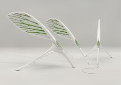 I love biomimicry design concepts. work in progress: pen inspired by the classical feather wing and the wing of insects. Will be shown in our Addictlab booth in Milan - Salone Satellite. by Labmember Atsu, Germany. http://addictlab.com/home/works/work/10051-pen%20concept