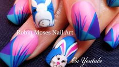BUNNY BUTTS! *EXTRA* EASTER Nail Art Tutorial