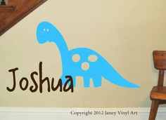 Dinosaur+Vinyl+Wall+Decal++Kids+Name+Monogram++by+JaneyVinylArt,+$26.95