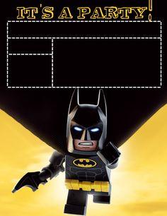 b - Lego Batman - Ideas of Lego Batman - Invitation- daisycelebrates. Lego Batman Party, Lego Batman Cakes, Lego Batman Movie, Superhero Party, Batman Cartoon, Batman Batman, Batman Stuff, Lego Batman Birthday, Avengers Birthday