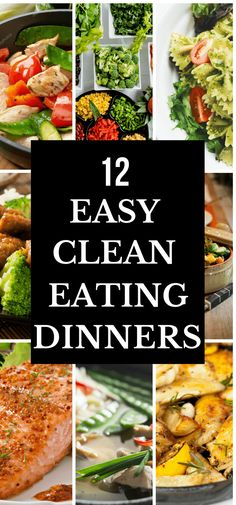 Looking for clean eating recipes for dinner? Check out this collection of 12 easy & quick clean eating recipes! Whether youre just beginning to eat clean for weight loss or you are searching for healthy recipes for family dinner or for two youre guar Clean Eating Recipes For Dinner, Dinner Recipes Easy Quick, Clean Recipes, Clean Eating Snacks, Healthy Eating, Easy Recipes For Two, Clean Foods, Recipes Dinner, Lunch Recipes