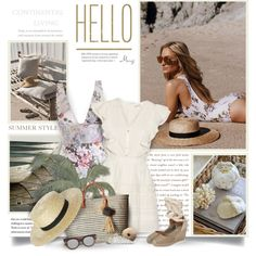 A fashion look from August 2017 by thewondersoffashion featuring LoveShackFancy, Zimmermann, Soludos, Hat Attack, Le Specs, Rusty e Beach Riot