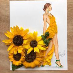 """EdgaR_ArtiS (@edgar_artis) on Instagram: """"Lady Sunflower  Dress out of sunflowers."""